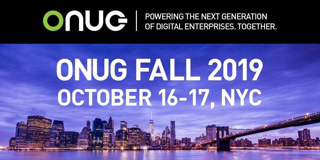 Gearing Up For the 7th Annual ONUG Fall in NYC: August Newsletter