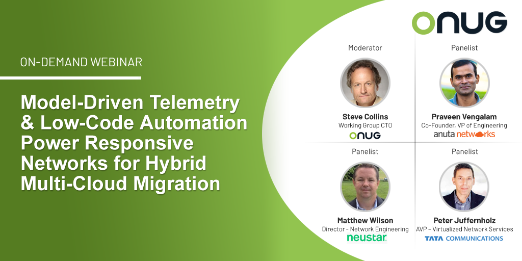 Model-Driven Telemetry and Low-Code Automation Power Responsive Networks for Hybrid Multi-Cloud Migration