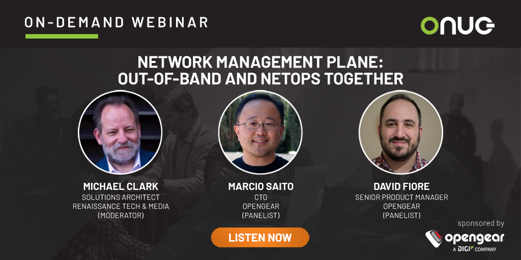 Network Management Plane: Out-of-Band and NetOps Together